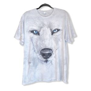 THE MOUNTAIN tie-dy wolf graphic tee